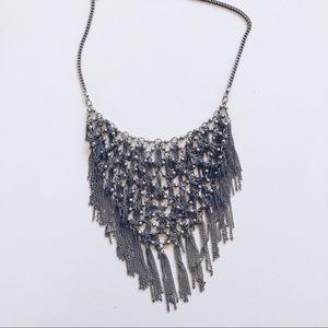 Tassel statement necklace